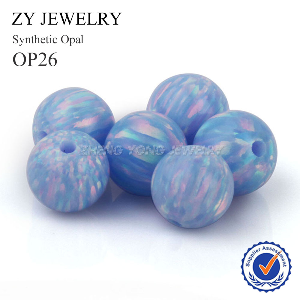 5PCS/Lot 5mm Synthetic Opal Beads Lab Created Full Hole Ball Opal Stone for Bracelet