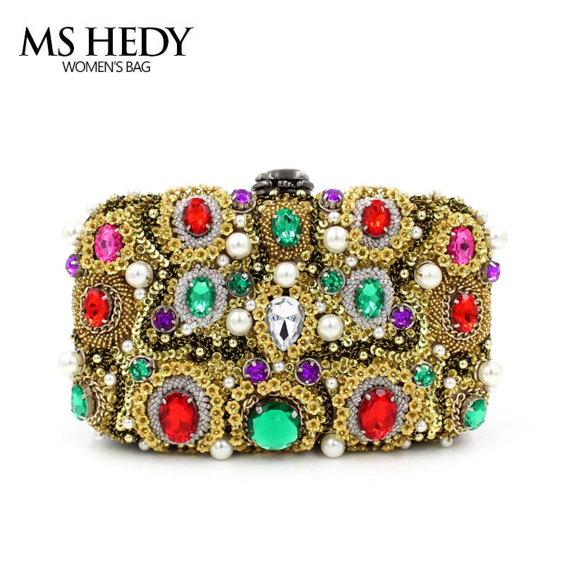 MS HEDY Pearl Evening Bag Handbag Bride Wedding Dinner Party Wallet Lady Multicolor Fashion Bead Day Clutch 2017 new mini shoulder messenger bag famous brand luxury elegant bead evening bag clutch pearl handbag bride bags for wedding