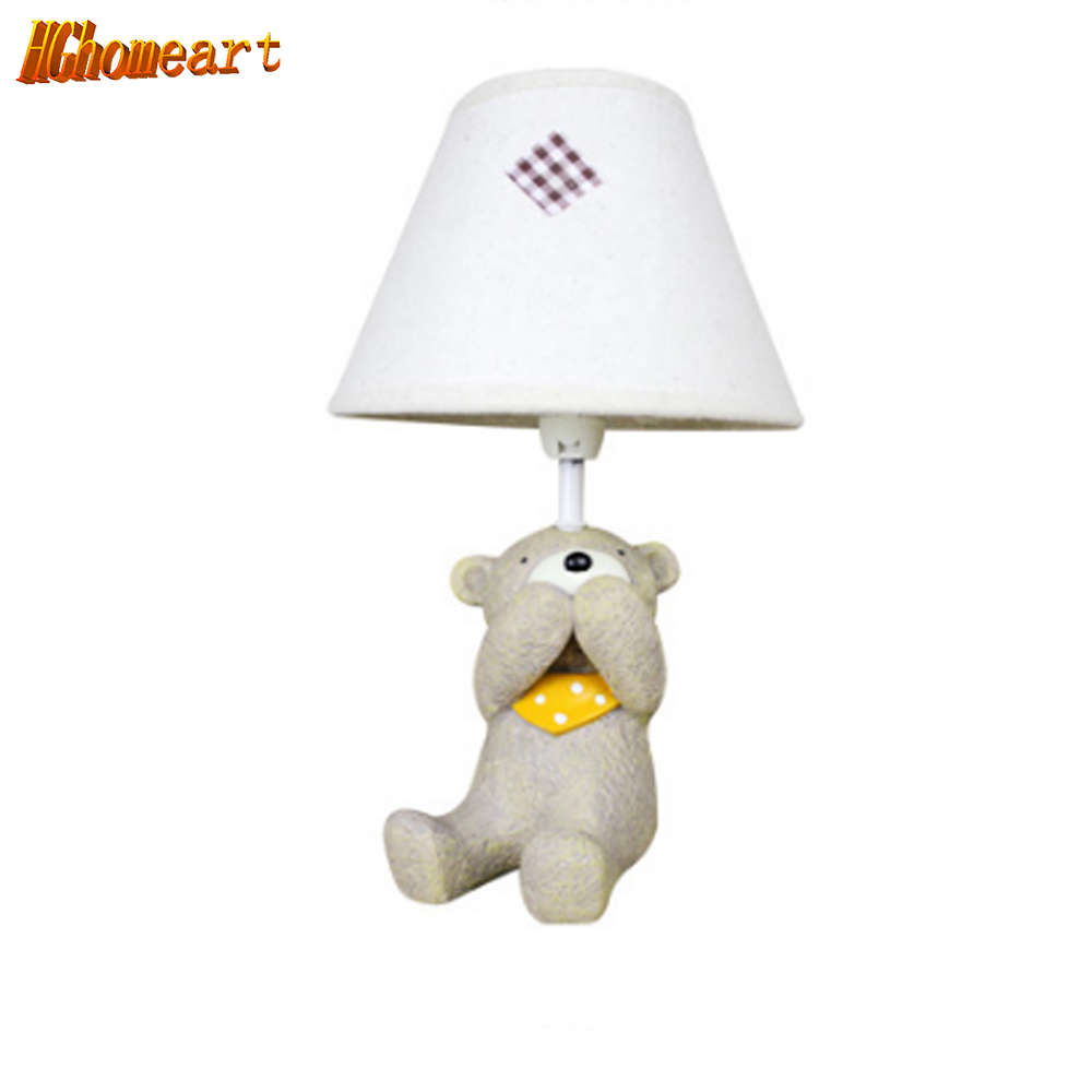 Hghomeart Modern Cartoon Creative Animal Children's Room Bedroom Led Desk Lamp Bedside Lamp Table Lamp Ornaments Gift for Kids rabbit lamp led table light for baby children kids gift animal cartoon decorative lighting bedside desk bedroom living room