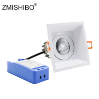 ZMISHIBO 5W/10W/15W 220V COB Ceiling Downlight Aluminum Housing Dimmable Driver 90mm Hole Recessed Spot Lamp Lighting Fixtures