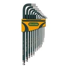 Набор ключей имбусовых KRAFTOOL 27444-H13 (Хромомолибденовая сталь, 13 ключей, размер ключа от 1,27 мм до 9,5 мм, антикоррозийное покрытие, подпружиненный шарик)
