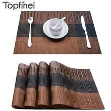 Topfinel zestaw 4 podkładek zmywalnych z pcv do jadalni mata na stół podkładka antypoślizgowa zestaw w akcesoriach kuchennych podstawka pod kubek Wine Pad