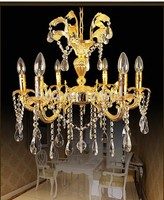 Maufature Royal Empire Golden Crystal Chandelier Light French Crystal Lights D650mm X H550mm
