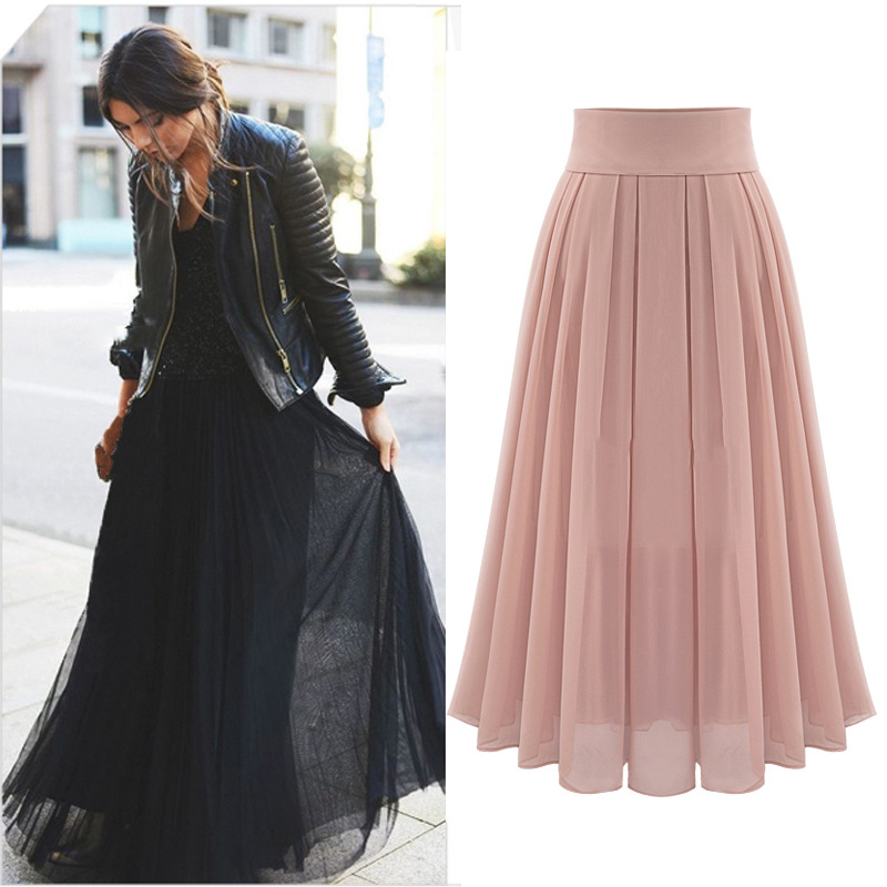 Online Get Cheap Pleated Chiffon Midi Skirt -Aliexpress.com ...
