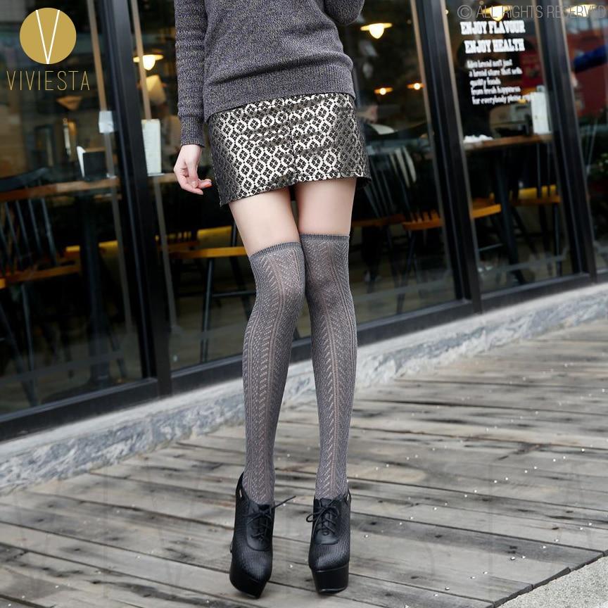 Cotton Crochet Lace Fishnet Stockings Womens Sexy Winter Fashion