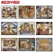 Rediy ladiy Алмазная мозаика медведь мультфильм Тедди алмазная живопись наборы для вышивки крестом Алмазная вышивка узоры Стразы искусство