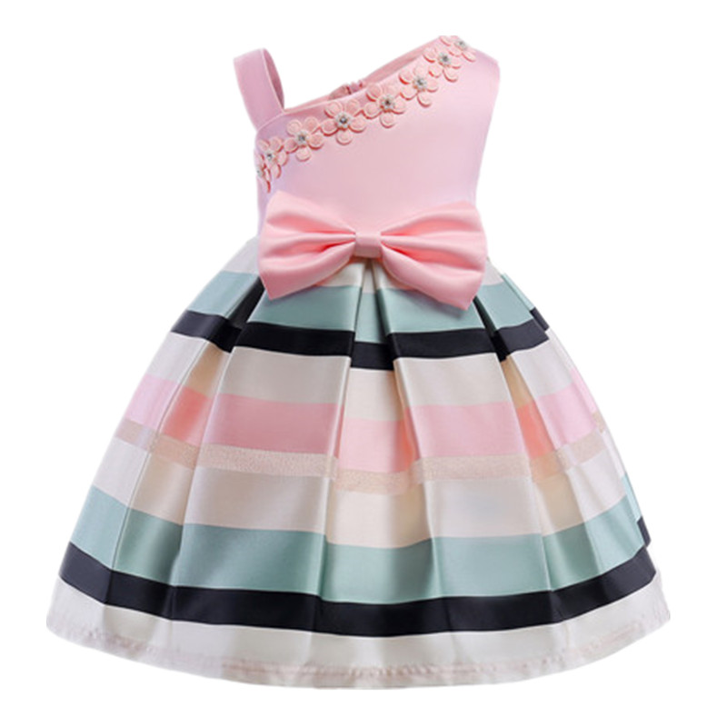 цены на Baby Girls Striped Dress For Girls 2018 Girls Princess Dress Christmas Kids Party Dress For Girl Clothing Children Costume