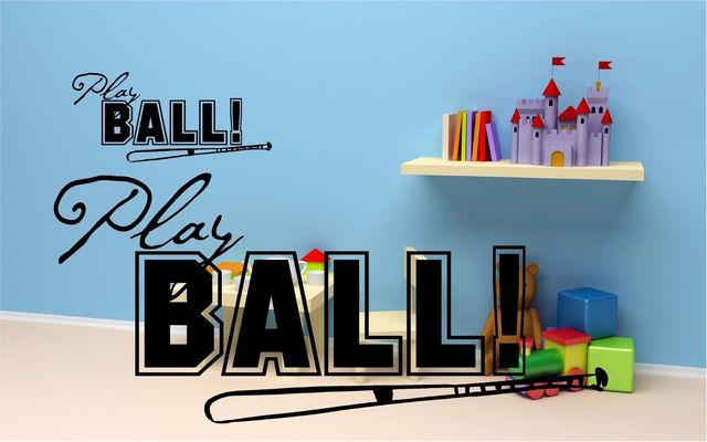 Baseball Themed Wall Decal Kids Room Nursery Decor