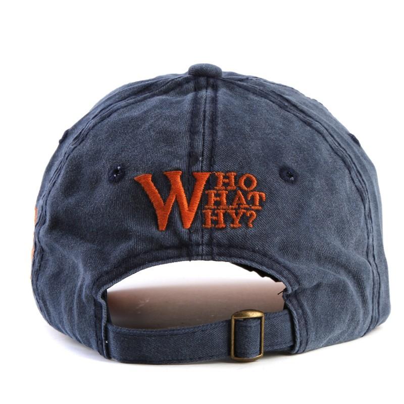 Topdudes.com - W Embroidery Letter Cotton Snapback Baseball Cap