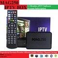 O envio gratuito de 3 Mês Mag250/Mag245 MAG250 IPTV subscrição de software com 1 PCS Originais/MAG245 MAG CAIXA de IPTV