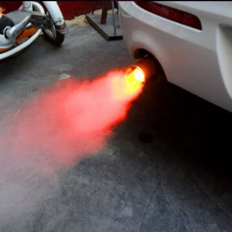 YZ car exhaust pipe modified torching end pipe with fire shining very cool protect and warning