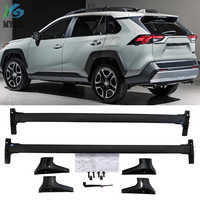 Nouveauté barre de toit horizontale barre transversale de rail de toit pour Toyota RAV4 2019 + alliage d'aluminium + ABS, style orignal américain
