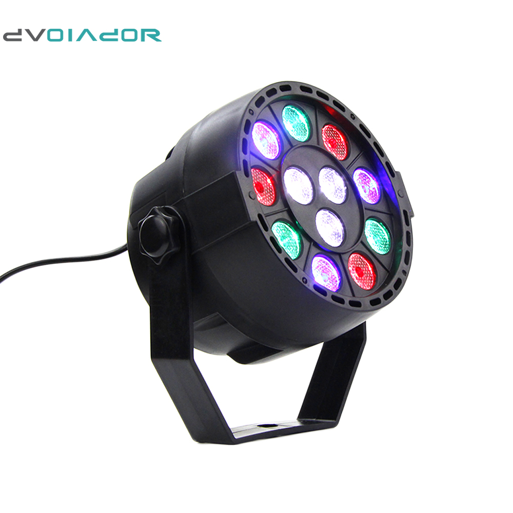 DVOLADOR Professional 12LEDs DMX512 Performance RGB Stage Light Laser Projector DMX Controller for DJ KTV Bar light AC110- 220V lightme professional stage dj dmx stage light 192 channels dmx512 controller console dj light for disco ktv home party night