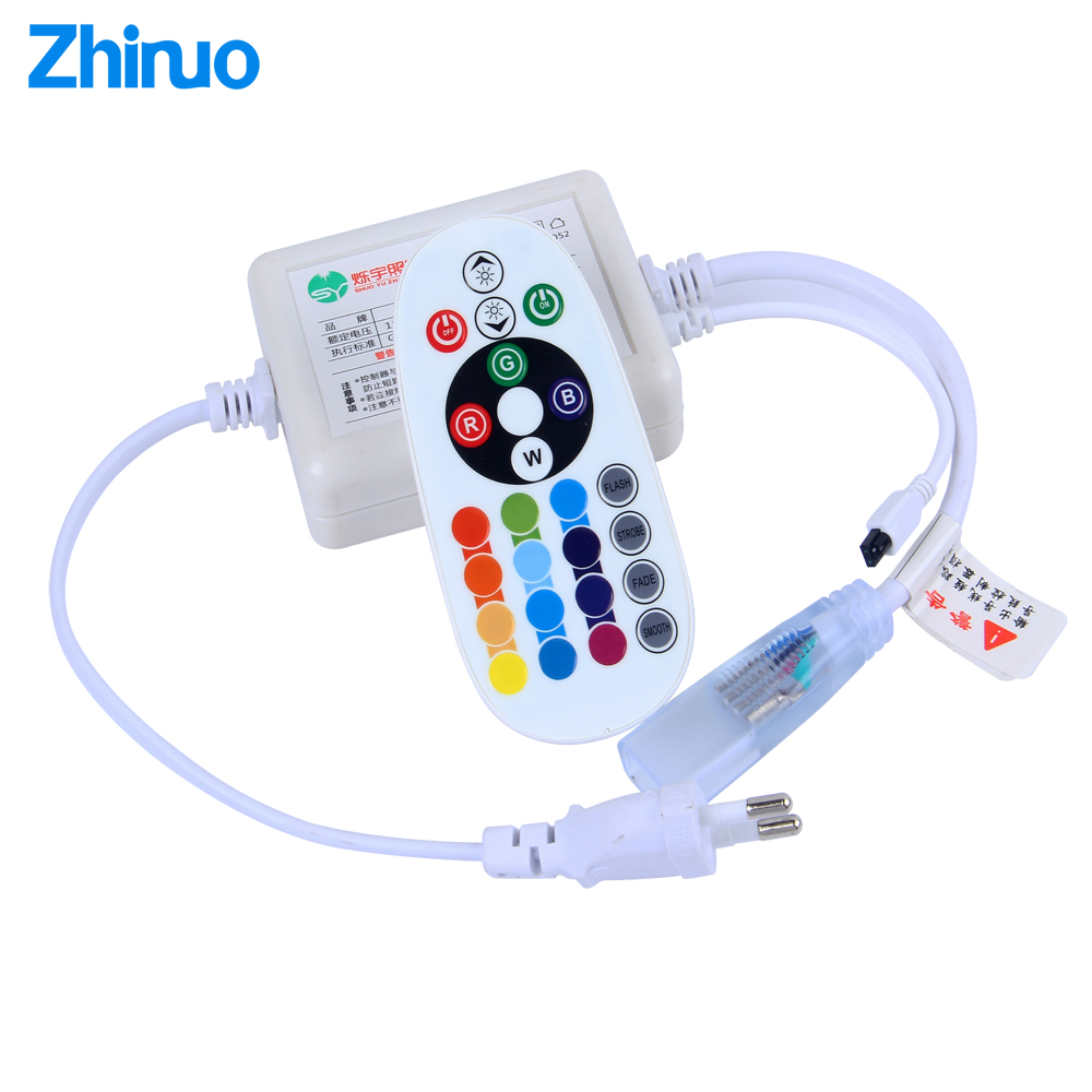 Remote Controller AC220V RGB LED Strip Music Controller Neon Light Strips 5050 Mobile Phone Bluetooth Control Big Power SupplyRemote Controller AC220V RGB LED Strip Music Controller Neon Light Strips 5050 Mobile Phone Bluetooth Control Big Power Supply