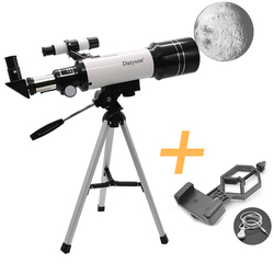 F40070M HD telescopio astronómico con trípode Monocular Luna pájaro ver niños regalo adaptador de teléfono