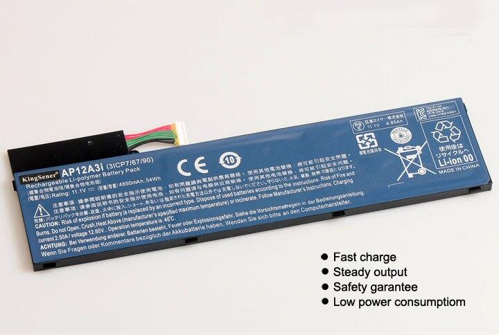 11.1 V 4850 mAh KingSener Nouvelle Batterie AP12A3i Pour Acer Iconia W700 Aspire Timeline Ultra U M3-581TG M5-481TG AP12A3i AP12A4i 54WH - 2