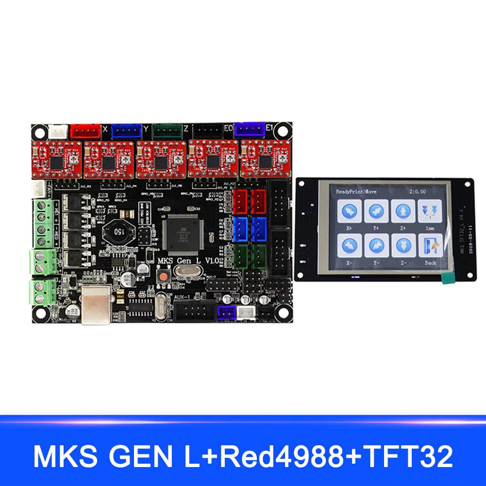 Nouveau MKS GEN L MKS TFT32 LCD Minipanel écran tactile Kits d'impression 3D avec pilote A4988 EM88