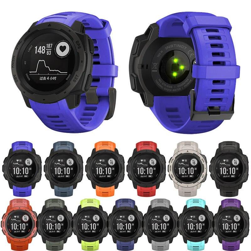 22mm Sports Watch Silicone Band Wristband Strap For Garmin Instinct SD998