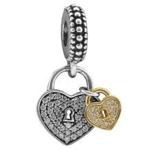 Charm diy new double - peach heart bracelet loose bead accessories DGB185