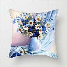 Fuwatacchi Flowers Cushion Cover Super Soft Dandelion Sunflower Pillow for Home Chaie Sofa Decorative Pillows 45*45cm