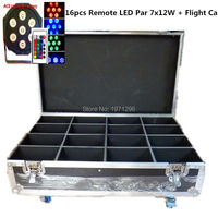 16pcs Lot Free Fast Shipping With A Flight Case For Wireless Remote Control Flat Led Par