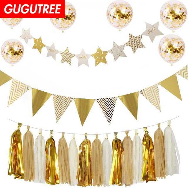 birthday balloons for party Decoration foil balloons Banners Paper flowers tassels Streamers decoration PD 50 in Party DIY Decorations from Home Garden