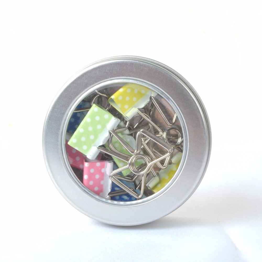 8pcs/box Metal Binder Clips Colorful Love Heart Cute Paper Clip Office Stationary Supplies Gifts