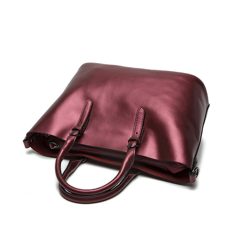 De black Cuir wine En Mode À Grey Grand purple Wyq068 Véritable Épaule Femmes Sacs bronze Designer blue Silver Red Luxe Sac silver gold Main aapxwv
