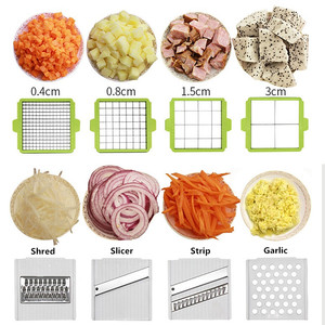 Image 2 - Multifunction Vegetable Slicer with 8 Dicing Blades Manual Potato Peeler Carrot Grater Dicer Kitchen Tools  Vegetable Cutter