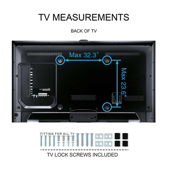Fitueyes Universal Table Top Swivel Tv Stand Base For 50inch To 80inch Tvs With Height Adjule Tt107003gb In Stands From Furniture On Aliexpress
