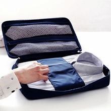 Turismo moda Maleta de Viaje Bolsa de Almacenamiento Organizador Bolsa de Almacenamiento de Equipaje Caja Del Bolso Camisa Corbata Ropa Sujetador Portátil Bolsa