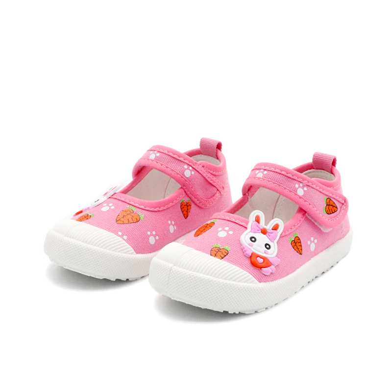 JGSHOWKITO Girls Canvas Shoes Soft Sports Shoes Kids Running Sneakers Candy Color With Cartoon Rabbit Carrots Prints ChildrenJGSHOWKITO Girls Canvas Shoes Soft Sports Shoes Kids Running Sneakers Candy Color With Cartoon Rabbit Carrots Prints Children