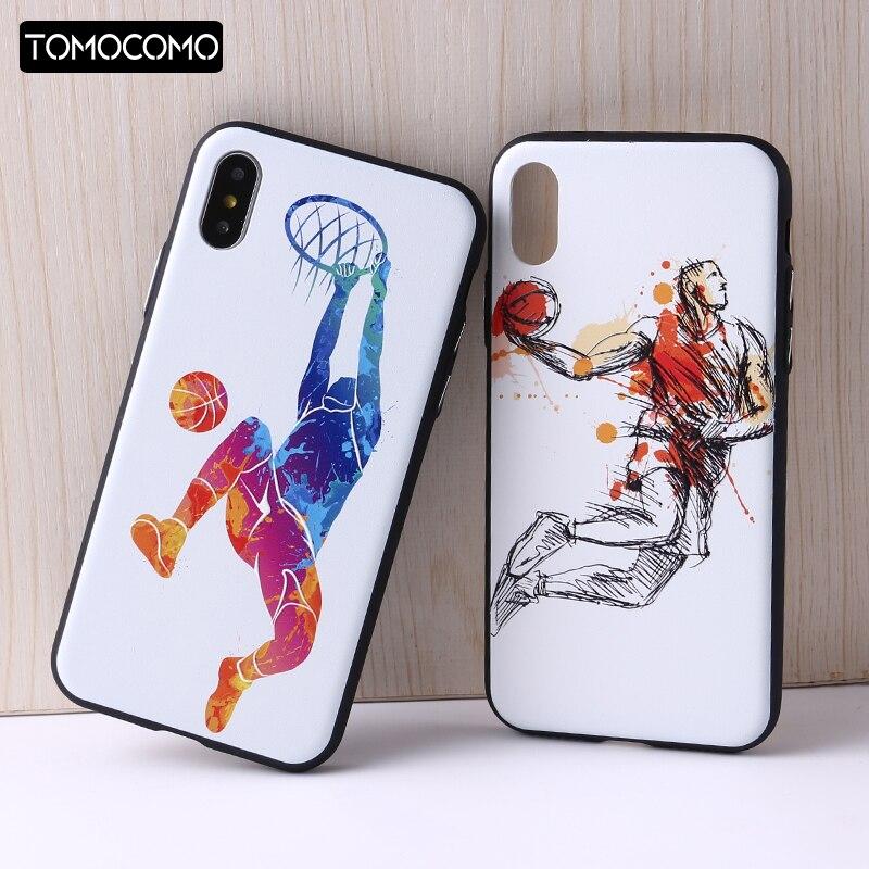 Tomocomo <font><b>NBA</b></font> Баскетбол Карри Харден Джеймс Кобе Телефон чехол для iphone6 6 Plus 7 7 Plus 8 8 Plus x OPPO r9s 3D помощи телефона чехол