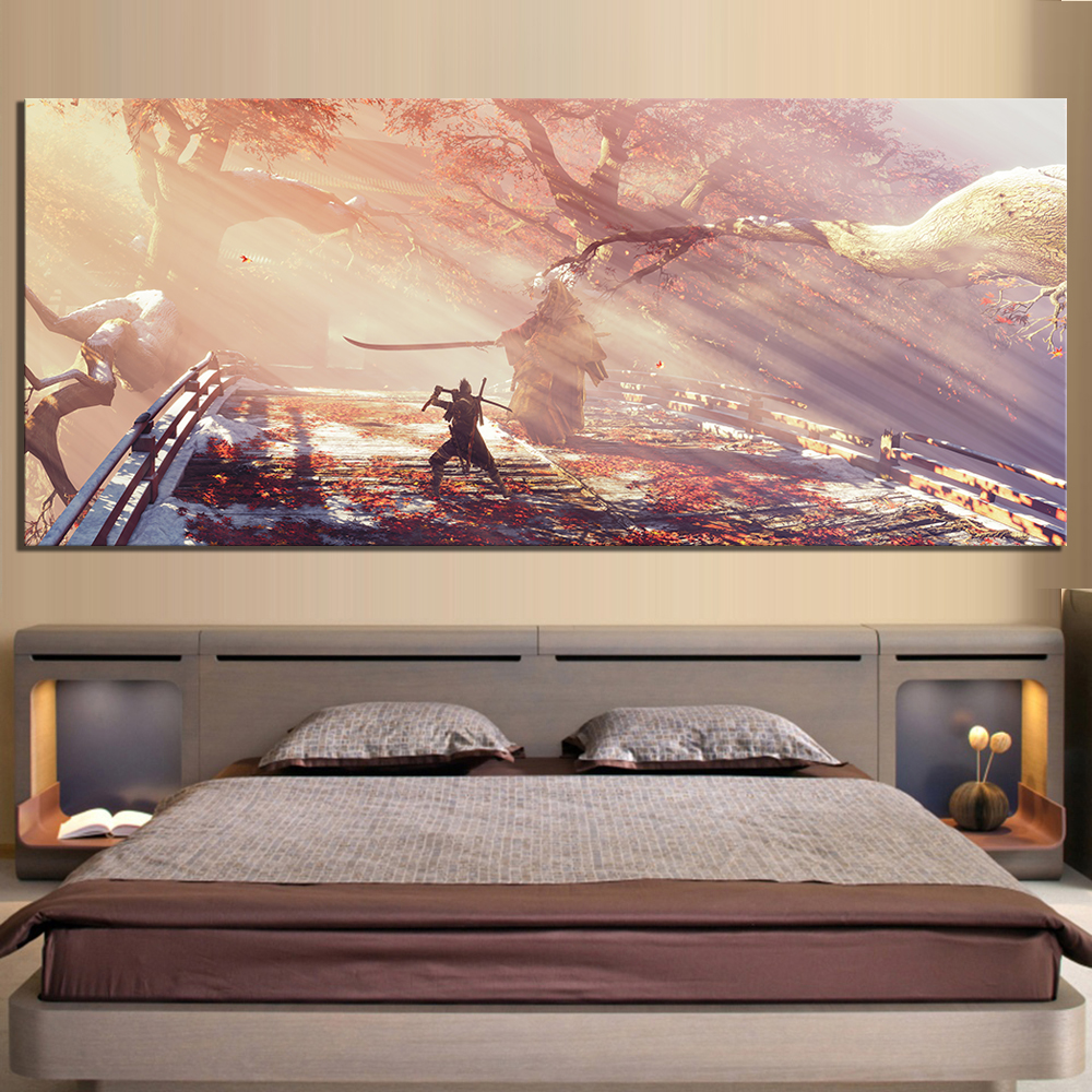 1 Piece HD Picture Print Sekiro Shadows Die Twice Video Game Scene Poster Landscape Wall Art Canvas Paintings for Home Decor 2