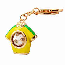 Creative Novelty Rhinestone Football Jersey Keychain Charm Car Key Chain Ring Holder Women Bag Charms Accessories Fans Gift R066