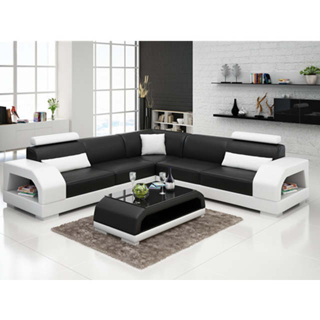 Hot Low Price European Style L Shaped Sectional Sofa
