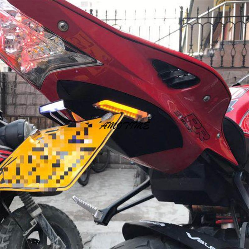 Tail Tidy Fender Eliminator For BMW S1000RR S1000R HP4 Motorcycle Registration License Plate Holder LED Light