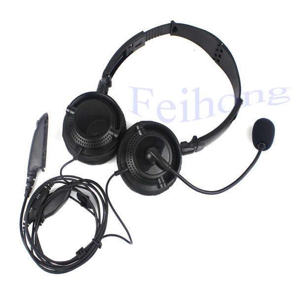 Hoofdtelefoon microfoon voor motorola radio gp340 gp328 gp329 gp338 walkie talkie