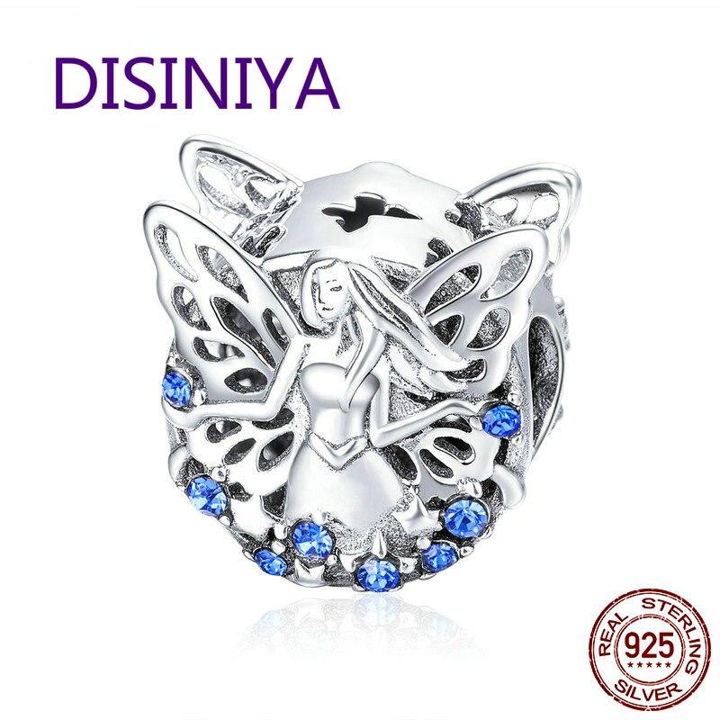 WOSTU Hot Sale 925 Sterling Silver Elf of Wisdom Beads fit Original DIY Charm Bracelet For Women Jewelry Gift CTC027