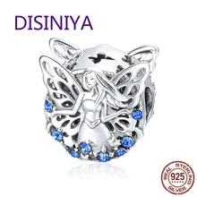 WOSTU Hot Sale 925 Sterling Silver Elf of Wisdom Beads fit Original DIY Charm Bracelet For Women Jewelry Gift CTC027 недорого