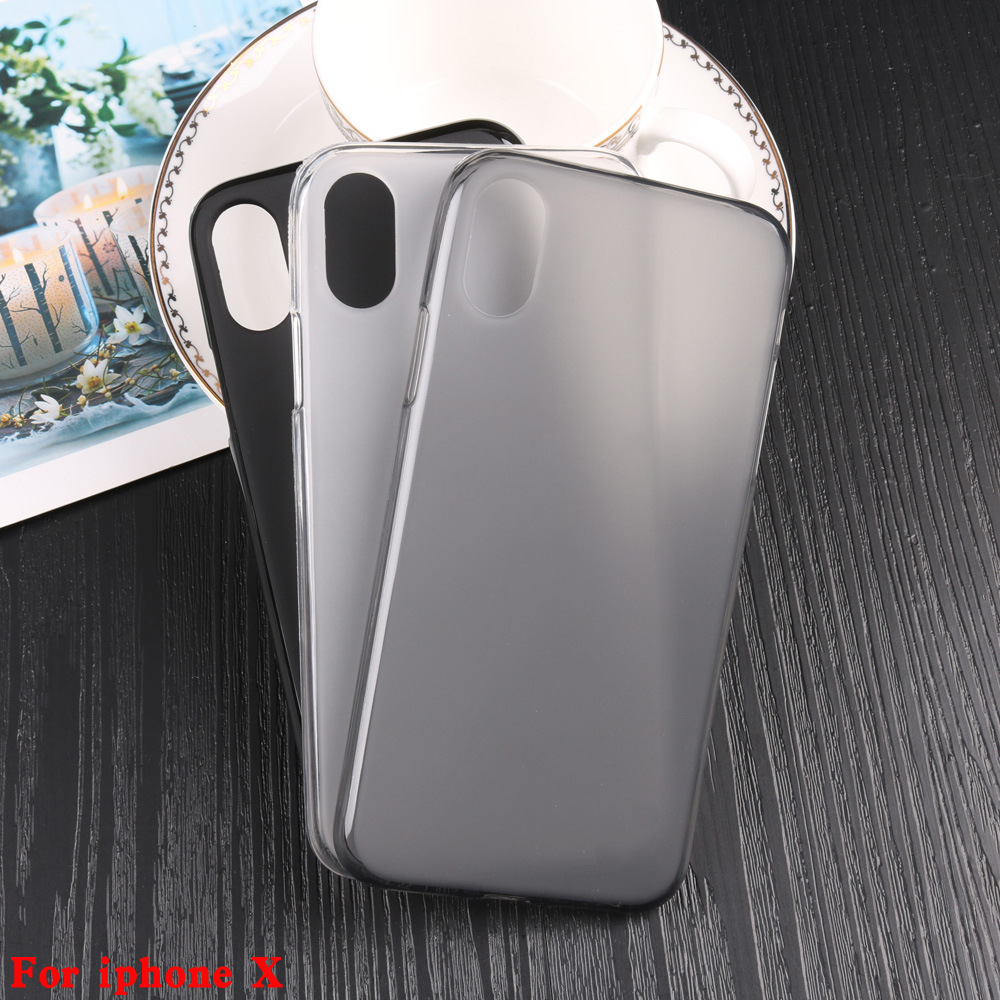 TPU Soft Case Cover For Apple <font><b>iPhone</b></font> X 10 Ten <font><b>A1865</b></font> A1901 A1902 5.8 in Black White Gray Pudding Mate Phone Back Cover Case image