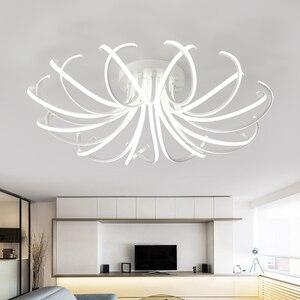 Image 4 - 거실 침실 현대 Led 천장 조명 화이트 컬러 알루미늄 avize AC85 265V lamparas 드 수첩 천장 램프 조명기구