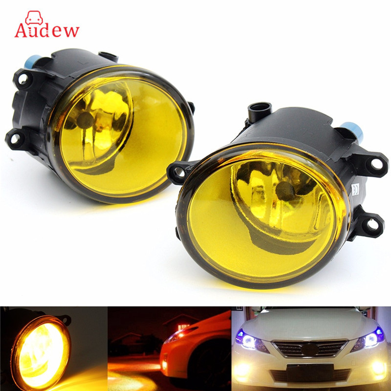 1Pair 55W LED Round Front Right/Left Fog Light Lamp DRL Daytime Driving Running Lights For Toyota/Camry/Carola/Vios/RAV4 for opel astra h gtc 2005 15 h11 wiring harness sockets wire connector switch 2 fog lights drl front bumper 5d lens led lamp