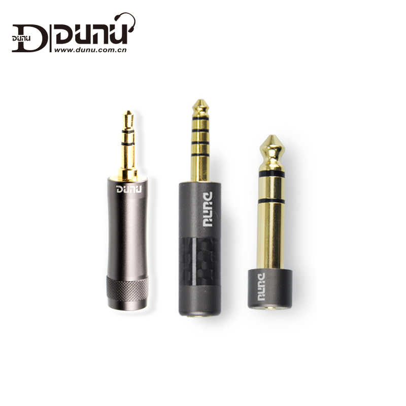 Asli Dunu Audio Converter Adaptor 3.5 Mm/4.4 Mm Seimbang Male untuk 2.5 Mm/2.5 Mm Trrs Wanita (6.35-3.5) dunu Earphone Colokan