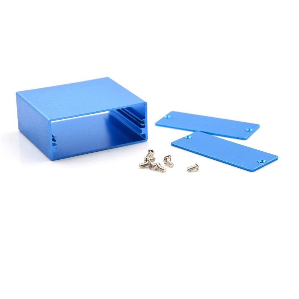 1PC font b Electronic b font Project Enclosure Case Blue Aluminum PCB Instruments Wholesale Box 50
