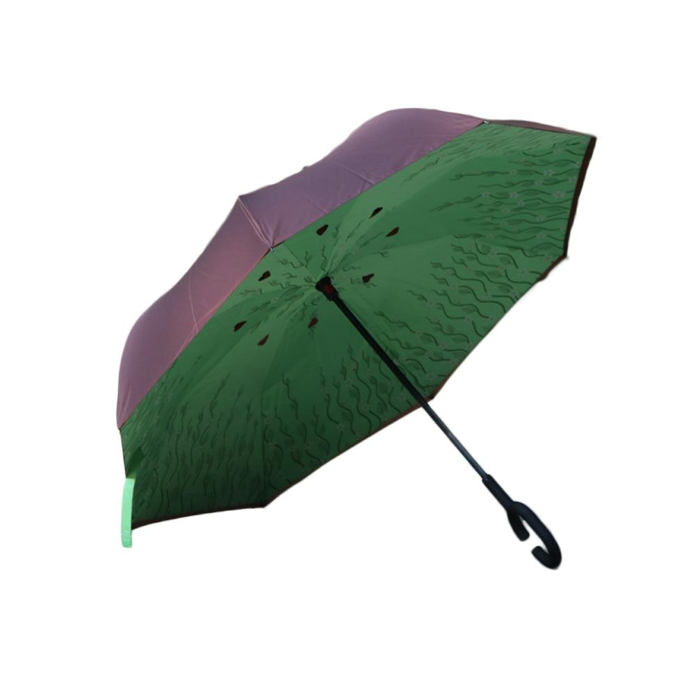 Kétrétegű összecsukható fordított esernyő, új, szélálló - Háztartási árucikkek - Fénykép 6
