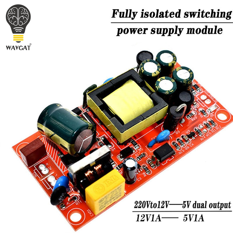 12V 1A / 5V1A fully <font><b>isolated</b></font> switching <font><b>power</b></font> supply <font><b>module</b></font> / 220V turn 12V 5V dual output / AC-DC <font><b>module</b></font> image