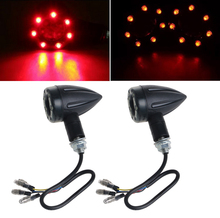 YAM 2017 NEW 1 Pair Motorcycle Turn Signal Brake Stop Light 12V 13 LED Indicator Red Yellow  APR07_20
