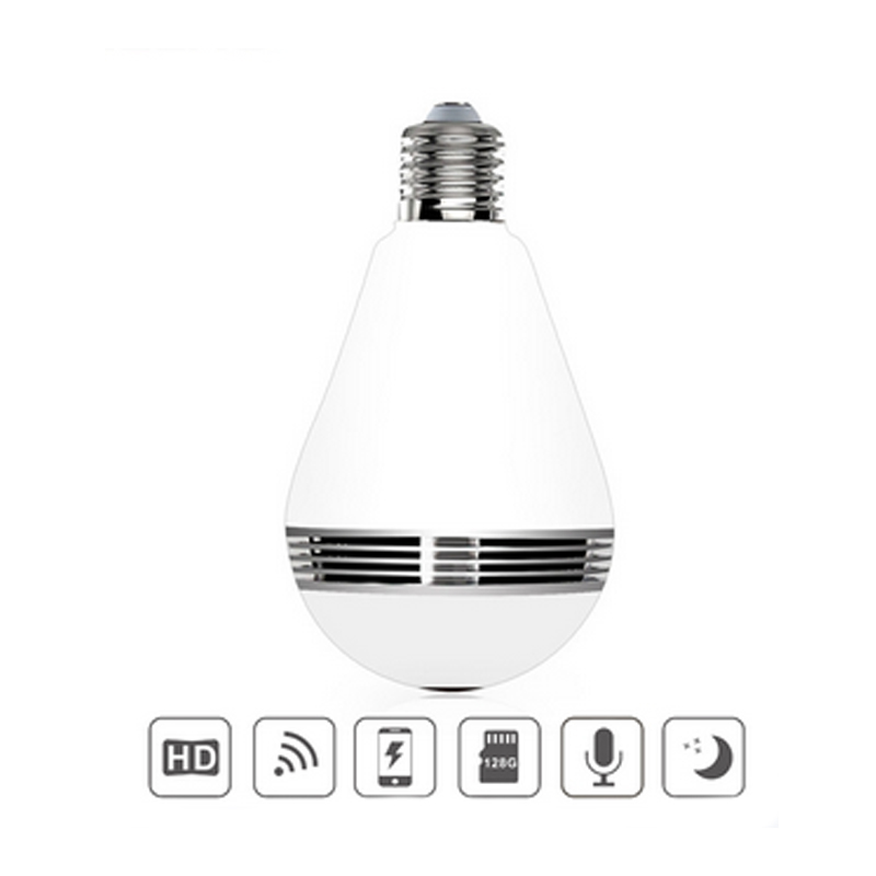 960P HD Bulb Light Wireless IP Camera WiFi FishEye 360 Degree Panoramic Mini Lamp Wifi Camera IR Technology