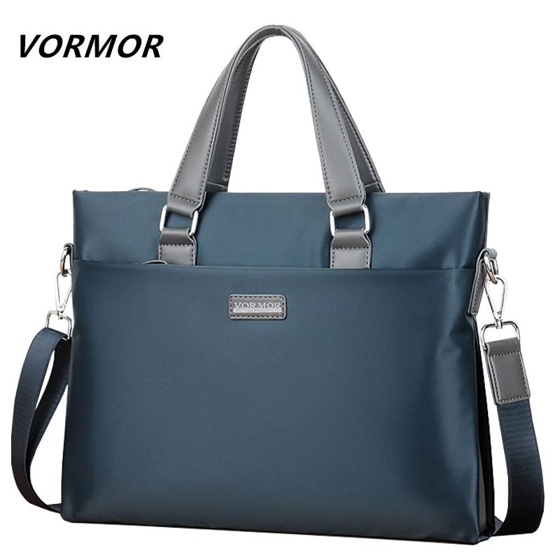 VORMOR Brand Business Men Briefcase Bag Waterproof 14 Inches Laptop Bag Casual Man Handbag Fashion Shoulder Bags